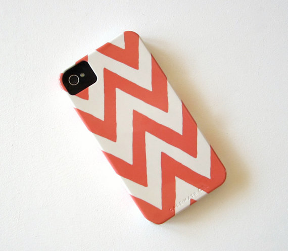 Chevron PINK IPhone 4/4s case Pattern Geometric Arrows Modern Tribal redtilestudio